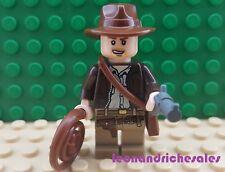 Lego Indiana Jones iaj044 Indiana Jones Minifigura con látigo, Bolso Y Accesorios De Pistola