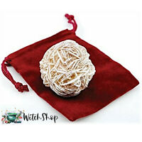 DESERT ROSE SELENITE STONE in Velvet Pouch Wicca Pagan Crystal Protection Stone