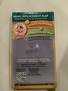 """Ideal Pet Products Vinyl Replacement Flap Small Clear 0.1"""" x 5"""" x 7"""" NEW"""