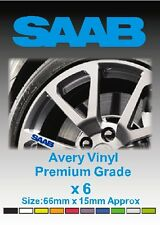 SAAB Alloy Wheel Vinyl Stickers - Graphics X 6