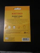 "Nip Pkg of 5 Burt""s Bees Purifying Sheet Mask 99.5% Natural Moisturizing New"