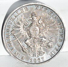 1 Thaler 1867 A Germany Prussia Wilhelm I Silver with Patina