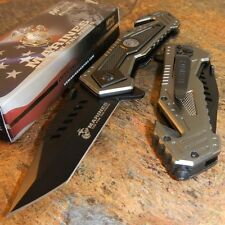 MARINES Spring Assisted OFFICIALLY LICENSED USMC Folding Rescue Pocket Knife NEW