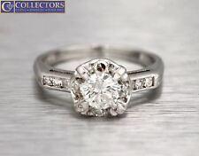 Lovely Ladies Vintage Estate 14K White Gold 0.78ctw Diamond Engagement Ring