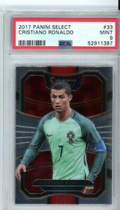 2017 Panini Select Soccer Cristiano Ronaldo Card PSA 9 MINT Portugal FIFA