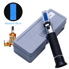 Handheld Alcohol Refractometer 0~80% With ATC Wine Tester Meter Measuring Tool