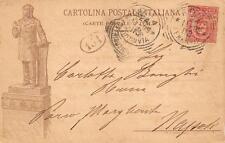 3102) LUCERA (FOGGIA) INAUGURAZIONE MONUMENTO A BONGHI. VIAGGIATA NEL 1899.