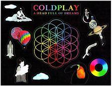 COLDPLAY A Head Full Of Dreams Ltd Ed RARE Stickers Lot +FREE Alt Rock Stickers!
