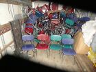 300 + MCM Vintage  Heavy Fiberglass Resin Chrome Childs School Chairs Stackable