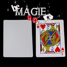 Carte Spéciale Bicycle - dos Blanc / face valeur - Tour de magie cartes