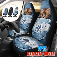 Car Front Seat Cover Protector Cushion Cat Dog Printed Truck Van SUV Universal
