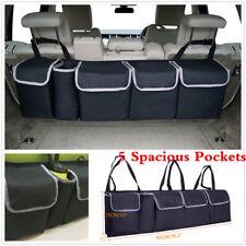 Black Car Trunk Seat Back Storage Organizer Multi-Use 5-Pockets Bag Accessories