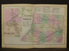 New York, Ontario County Map, 1874, Gorham Township, Double Page, Y3#76