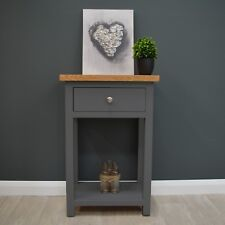 Painted Small Console Table Oak / Hallway / Solid Wood / Telephone New Trend