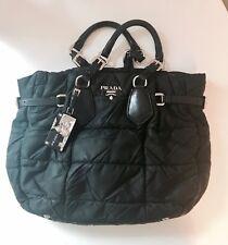 Originale Prada Tasche, Shopper, Handtasche, Stoff/ Leder, bag, Schwarz