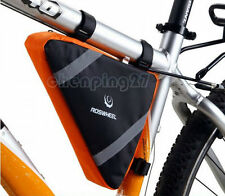 Orange New Cycling Bike Bicycle Frame Front Tube Triangle Bag Quick Release