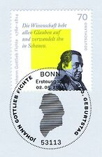 BRD 2012: Johann Gottlieb Fichte Nr. 2934 mit Bonner Ersttags-Sonderstempel! 1A