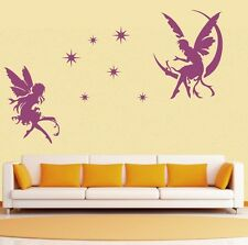 two angels star Wall Quote home Stickers Vinyl Decal Removable Mural DIY Art