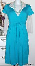 ESPRIT collection Viskose Kleid Vily dress- S 36, blau blue dinner NEU