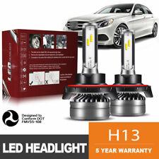H13 9008 LED Headlight Bulb 60W 12000LM Kit High Low Beam Headlamp 6000K DWK