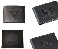 NFL  Black Leather Bi-Fold Wallet  Pick your Team