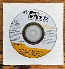 COREL WordPerfect® Office X3 Student & Teacher Edition CD only