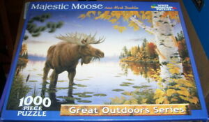Majestic Moose – White Mountain Puzzle – Pre-Owned