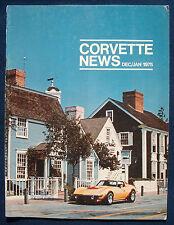 Prospekt brochure Corvette News December / January 1975 (USA)