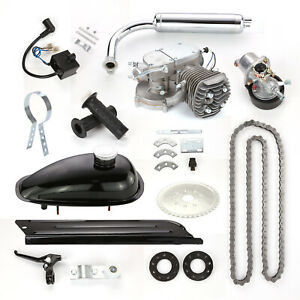80cc Bike Bicycle Motorized 2 Stroke Petrol Gas Motor Engine Kit Full Set Black