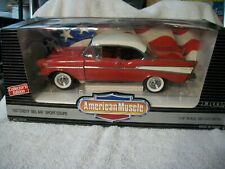ERTL 1957 Chevrolet BELAIR American Muscle 1:18 Diecast Red/White