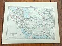 circa 1880s colour map of  persia !  ( adam & charles black )