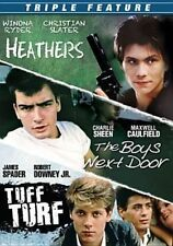 Triple Feat Heathers/boys Next Door/t 0014381800623 With Charlie Sheen DVD