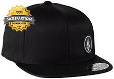 Volcom Upper Corner Snapback Baseball Hat Cap Black One Size D55316g 2blk