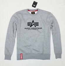 Alpha Industries Herren Basic Sweater Sweatshirt grau Gr.xxl