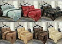 3 Pcs Jacquard Quilted Bedspread Set Bed Throw Comforter Double,King,Super King
