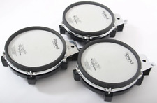 3x Roland PD-85 Mesh Electronic Snare / Tom Drum Trigger Pads For Drum Kit.