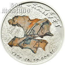 CHAUVET CATS Prehistoric Art Cave Paintings Silver Proof Coin 2011 Niue 1 DOLLAR