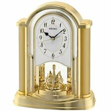 Seiko Analogue Mantel Rotating Pendulum Clock Plastic - Gold (QXN228G)