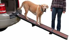 Pet Gear Travel Lightweight Strong Tri Fold Pet Dog Ramp Supports Up to 200lbs