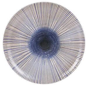 """2X IRYS """"XXL"""" porcelain round DINNER STEAK LARGE DINNER PLATES 32.5cm"""