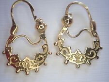 Boucles d'oreilles de savoie or 18 carat