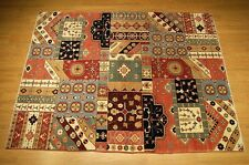 6 x 8 High Quality Handmade Vegetable Dyes Hand Spun Fine Wool Afghan Kazak Rug
