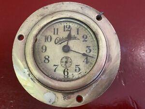 1915 1916 1917 1918 OLDSMOBILE AUTOMOBILE CLOCK EARLY BRASS ERA VINTAGE ANTIQUE