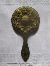 Antique 1904 Worlds Fair St. Louis- Souvenir Art Nouveau Metal Hand Mirror
