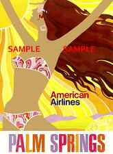 "American Airlines 8.5"" x11""  Travel Poster  - [ PALM SPRINGS ]  -"