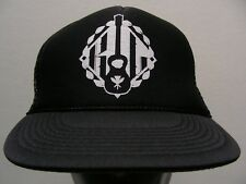 GUITAR LOGO DESIGN - ONE SIZE TRUCKER STYLE ADJUSTABLE SNAPBACK BALL CAP HAT