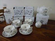 Alice In Wonderland Fine China Tea Set Teapot Cups & Saucers Sugar Milk Jug V&A