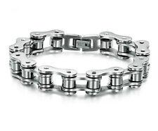 Men's Titanium Steel Bicycle Bike Chain Design Silver Energy Bangle/Bracelet