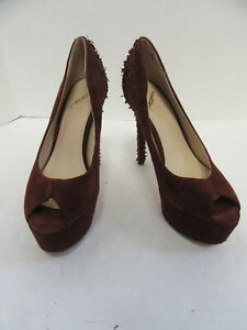 B BRIAN ATWOOD burgundy blayne peep toe pump sz 7.5
