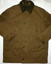 Mens L Banana Republic Lined Barn Coat Field Jacket Brown Cotton Polyester